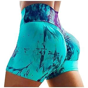 HOTHONG Pantalon De Yoga Femme Short De Sport à SéChage Rapide Leggings De Fitness Elastique Taille Haute Slim…