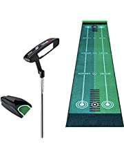 Two-Line Putting Practice Blanket Golf Mats, 50X300cm, Indoor and Outdoor Protable Golf Putting Mats with Ball Returner for Home, Office Use, Perfect Putting Practice Mat, Golf Gifts for Men