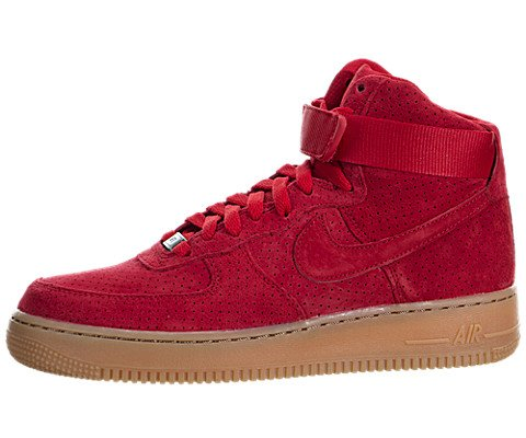 Nike AIR FORCE 1 HI SUEDE womens basketball-shoes 749266-601_7 – UNIVERSITY RED/UNIVERSITY RED