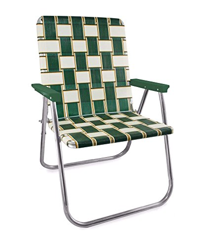 Lawn Chair USA Webbing Chair (Magnum, Charleston with Green Arms) ()