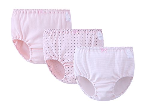 Price comparison product image ABClothing Little Girls' 3 Pack of Brief Underwear Cute Bread Pants
