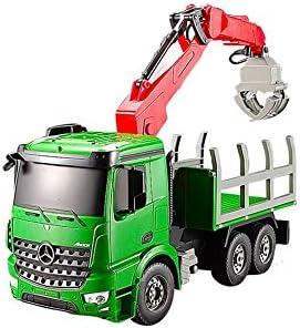 RC TECNIC Camión Teledirigido Grua Mercedes Benz Arocs 1:20 2.4Ghz | Luces y Sonidos Realistas, Coche RC Radiocontrol con Batería | Juguetes Construcción Radio Control para Niños, Verde