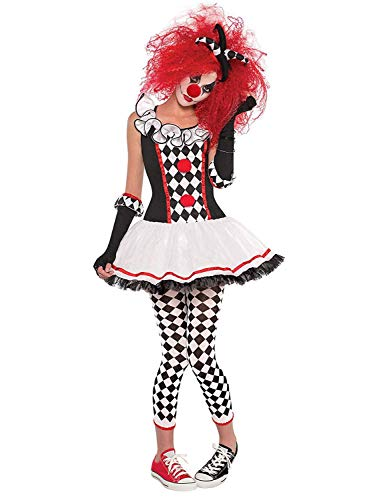 Halloween Costumes for Girls,Women's Halloween Costume Harlequin Clown Outfit Fancy Party Cosplay Costumes