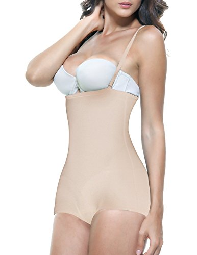 Vedette Womens 123 Lillian Strapless Body Shaper (2XL (42), Nude)