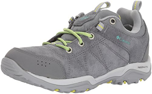 Columbia Women's Fire Venture Low Waterproof Hiking Shoe, Ti Grey Steel, Aquarium, 6.5 B US by Columbia