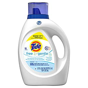 Gut Health Shop 41fB%2BFOoD3L._SS300_ Tide Free and Gentle Liquid Laundry Detergent Soap, HE, 64 loads - Unscented and Hypoallergenic for Sensitive Skin, Free…