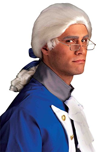 Historical Colonial Man Wig, Adult Standard (Colonial Costumes For Adults)