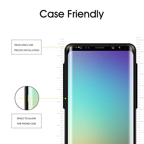 Galaxy S9 Plus Glass Screen Protector, [Update Version] OTAO 3D Curved Dot Matrix Samsung S9 PLUS Tempered Glass Screen Protector 2018 with Easy Installation Tray (Case Friendly) (NOT S9) by OTAO (Image #2)