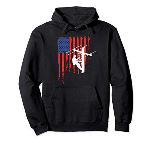 American Lineman Flag Shirt Cable Lineman gift - Lineman Shirts