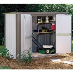 arrow ezl83 ezee locker 8 x 3 outdoor storage shed ezl83 - Garden Sheds 8 X 3