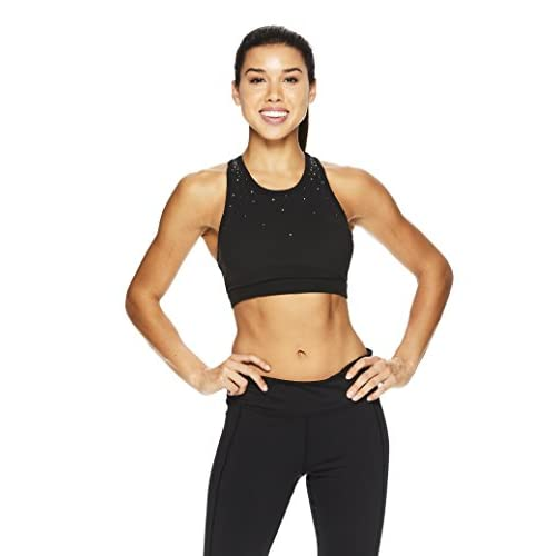 Gaiam Women's Strappy Racerback Bralette - Performance Yoga Sports Bra