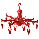 1 X IKEA Pressa Octopus Clothes Drying Rack with 16 Clips (RED)