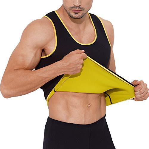 Gowhods Waist Trainer Sweat Vest for Men, Hot Neoprene Sauna Tank Top, Compression Workout Corset Slimming Body, Heat Keep Thermal Underwear, Gym Suit