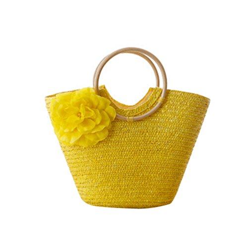 Traveling Causual spiaggia Borsa Handbag gialla da per Crossbody donna Shopper Bag Youjia Totes wfxUARqft