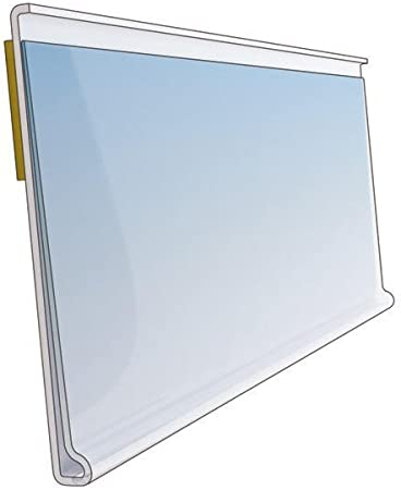 Clear Shelf Edge Strip 39mm High 150mm Length Ticket Holder Various Pack Sizes Pack of 10