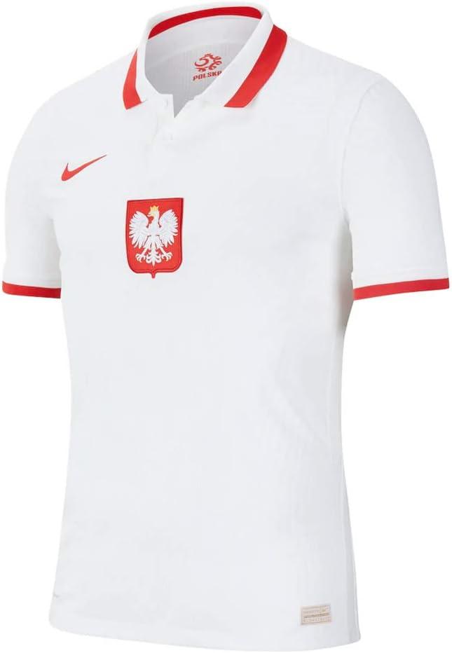 Nike 2020-2021 Poland Home Vapor Match Football Soccer T-Shirt Jersey