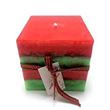 Holly Wretch Cube Square Strawberry Cream Japan Matcha Green Tea Multi-Colored Scented Candles Handmade by Littras Christmas Gift