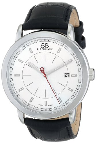 88-Rue-du-Rhone-Mens-87WA120036-Analog-Display-Swiss-Quartz-Black-Watch
