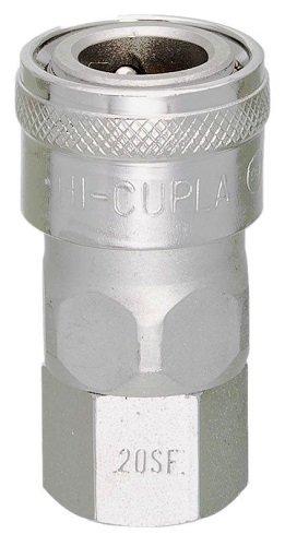 Nitto Kohki Hi Cupla 20PF-NPT Quick Connect Pneumatic Coupler Plug NPT Thread Female Steel 1//4 Size 218 PSI