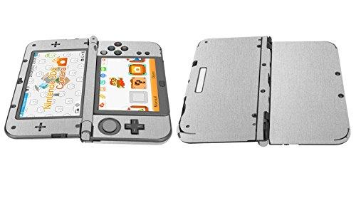 Skinomi® TechSkin - New Nintendo 3DS XL Screen Protector (2015) + Brushed Aluminum Full Body Skin / / Front & Back Film / Ultra HD & Anti-Bubble Shield (Nintendo 3DS LL Version)