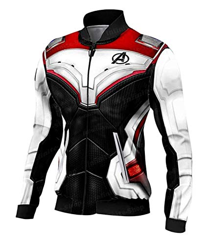 Superheroes Stylish Halloween Jackets Collection for Men Women (Large, Women Quantum Realm Real Leather Jacket)