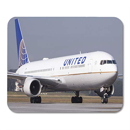 (Emvency Mouse Pads Plane Boeing 767 300 of United Airlines at Guarulhos Mouse Pad for notebooks, Desktop Computers mats 9.5