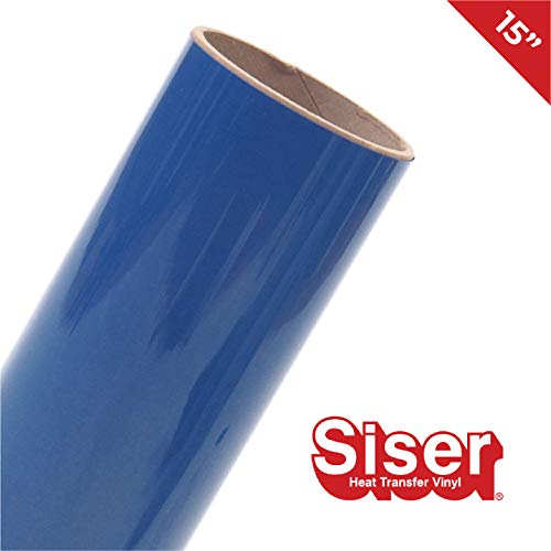 Royal Blue Siser Easyweed 12 x 3ft Heat-Transfer Vinyl Roll Including Hard Yellow Detailer Squeegee