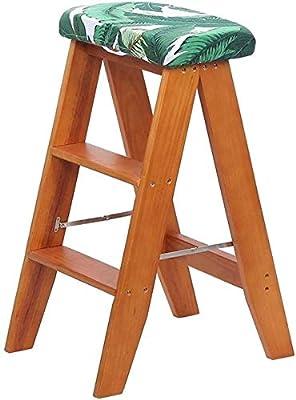 XIN Escaleras multiusos para niños Taburete de pie Taburete alto multifuncional Silla plegable de escalera Madera maciza Taburete plegable creativo Taburete escalonado de doble propósito para interio: Amazon.es: Bricolaje y herramientas