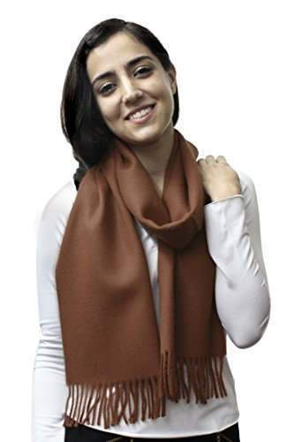 Woven 100% Pure Baby Alpaca Wool Scarf Unisex (Copper) ()