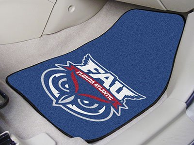 Fanmats Florida Atlantic University 2-pc Carpet Car Mat Set/17