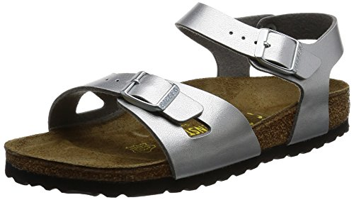 Birkenstock Unisex-Child Rio Kids Silver synthetic Sandals 32.0 N EU N 731483 by Birkenstock