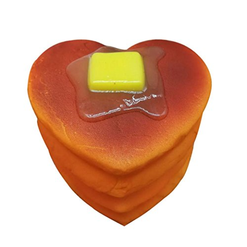 Cinhent Squishy Heart Hamburger Cheese Cake Toast Bread Cellphone/Bag Straps Exquisite Small Pendant (Cheesecake Shipping)