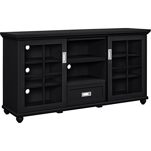 Ameriwood Home Aaron Lane TV Stand Buffet, Black