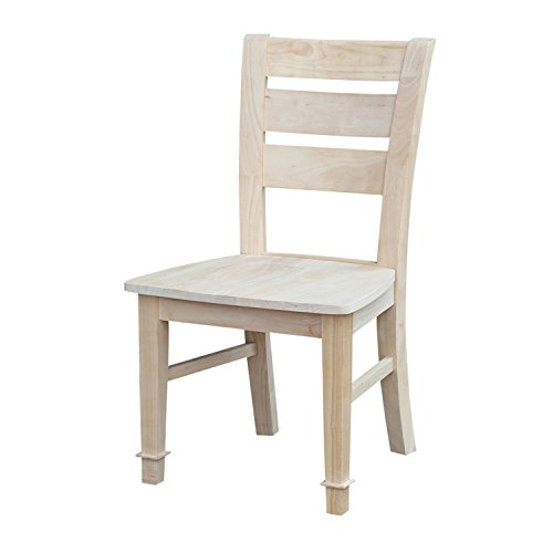 International Concepts Unfinished Tuscany Chair, Set of 2