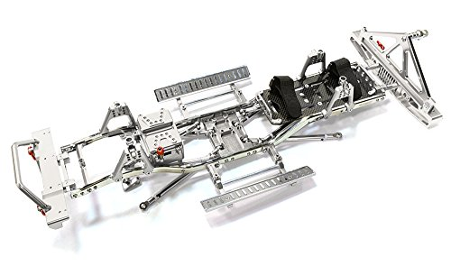 Integy RC Model Hop-ups C26936SILVER Steel Ladder Frame Chassis Kit w/Hop-up Combo for SCX-10, Dingo, Honcho & Jeep