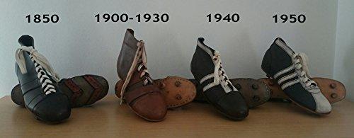 COLECCIÓN DE BOTAS RETRO DE FÚTBOL HECHAS DE PIEL 1850 A 1950