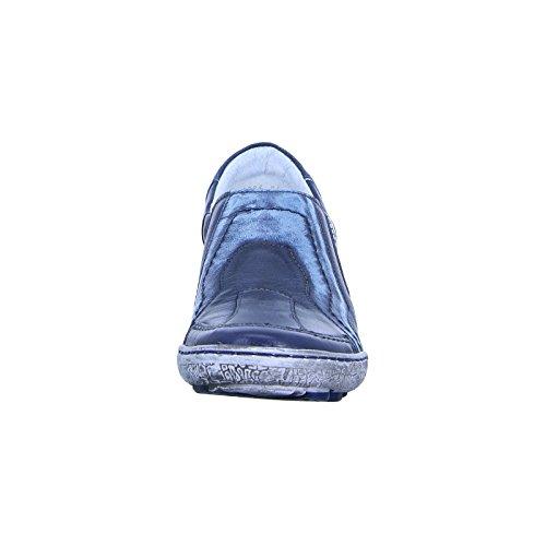 Kacper 2-3986 Slipper Damenschuh Vrije Tijd Echt Leer Blauw / Grijs