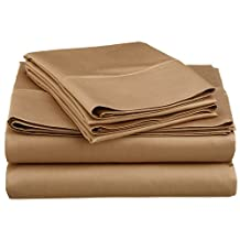 Swiss Collection Luxury 1800 TC Series Egyptian Comfort Sateen Sheet Set (Taupe, Queen)
