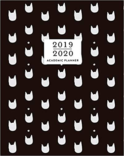 Amazon.com: 2019-2020 Academic Planner: Cat Print Black ...