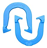 Mustang Professional Pitching Horseshoes- Made in USA! (Blue- Single Pair (2 Shoes))