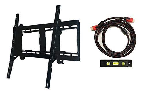 Tilt TV Wall Mount Bracket 23-Inch to 65-Inch by Plexon (Includes HDMI Cable and Bubble (Axis Tilt Wall)