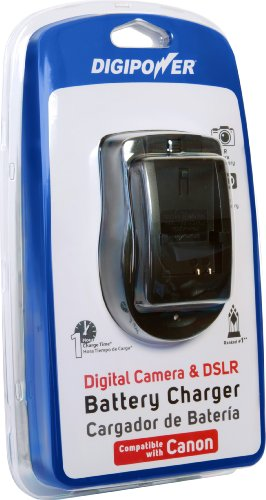 DigiPower Digital Camera & DSLR Battery- Charger for Canon