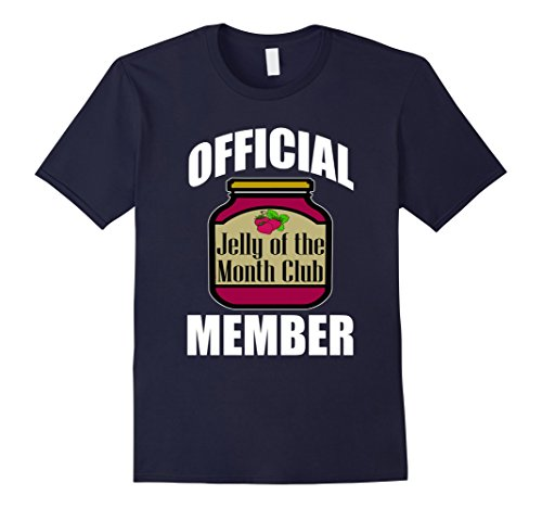 [Men's FUNNY JELLY OF THE MONTH CLUB T-SHIRT Gift Idea 3XL Navy] (Father And Daughter Halloween Costume Ideas)