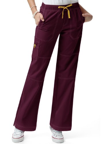 Wink 'Sporty Cargo pant' Scrub Bottoms Wine 3X-Large Tall