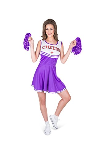Washing Machine Costume (Karnival Women's Purple Cheerleader Costume Set - Perfect for Halloween, Costume Party Accessory. Trick or Treating (XS))