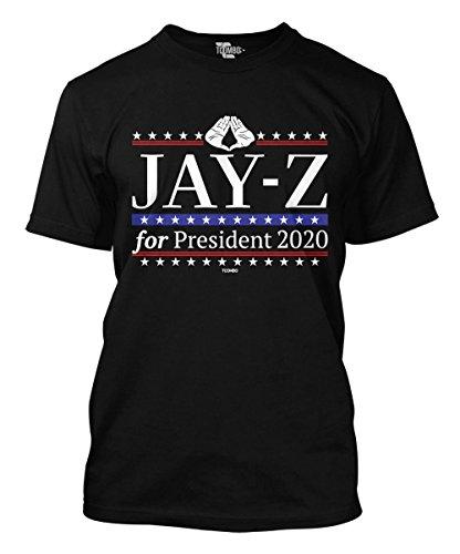 Tcombo Jay-Z For President 2020 Men's T-Shirt (Black, Medium)