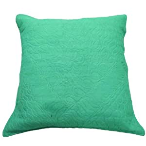 "Abstract Pattern Green Cushion Cover 58 Cm Pillow Cover Silk Fabric Pillowcase Throw 23"" Gift"