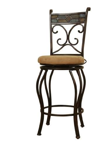 Boraam 80516 Beau Bar Height Metal Stool, 29-Inch, ()