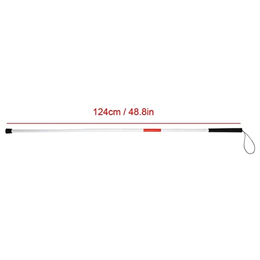 Airsun Folding Blind Cane Reflective Red Folding Walking Stick for Vision Impaired and Blind People
