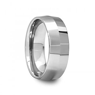 8 Mm Mens Tungsten Carbide Rings Wedding Bands Knife Edge Polished